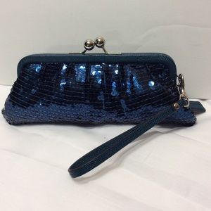 Coach Occasion Sequin Kiss Lock Framed Bag Clutch